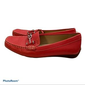 COPY - Geox Red Driving Loafers Excellent Conditi…